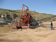 Chain Bucket Sand Dredger