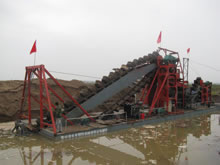 Chain Bucket Iron Sand Dredger